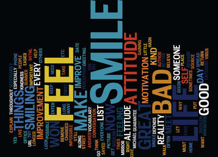 GIVE YOUR ATTITUDE A LITTLE ALTITUDE Text Background Word Cloud Concept