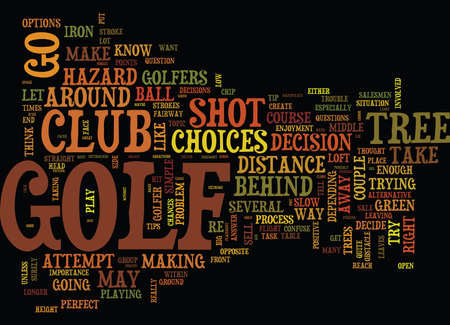 GOLF TIPS AROUND TREES ON THE GOLF COURSE Text Background Word Cloud Concept Ilustração
