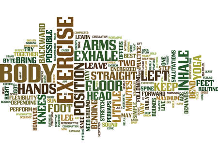 GOT ONLY MINUTES TO EXERCISE THEN TRY THIS FROM YOGA Text Background Word Cloud Concept