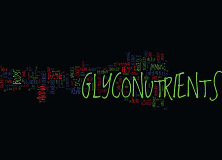 GLYCONUTRIENTS ARE ONLY ONE PIECE OF THE PUZZLE Text Background Word Cloud Concept