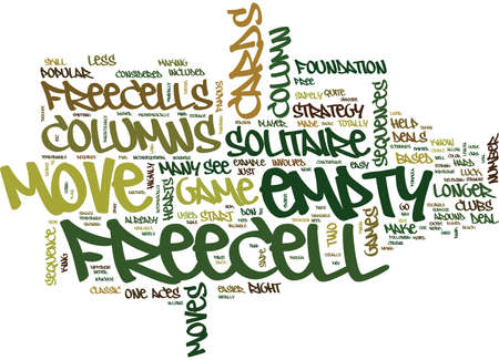 FREECELL SOLITAIRE STRATEGY GUIDE Text Background Word Cloud Concept