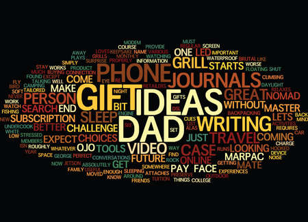 GIFT IDEAS FOR DAD Text Background Word Cloud Concept