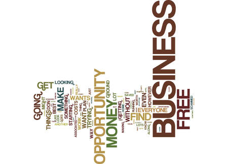 FREE BUSINESS OPPORTUNITY Text Background Word Cloud Concept 向量圖像