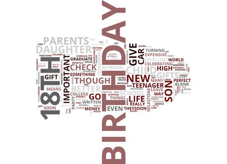 GIFTS FOR YOUR TEENAGERS TH BIRTHDAY Text Background Word Cloud Concept