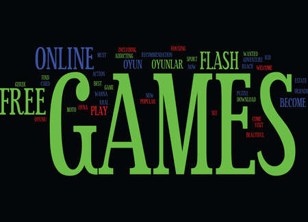 FREE FLASH GAMES Text Background Word Cloud Concept
