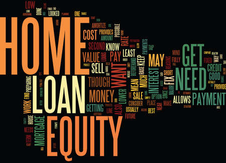 GET YOUR HOME READY TO SELL WITH A HOME EQUITY LOAN Text Background Word Cloud Concept
