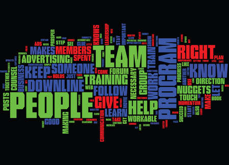 FOLLOW THROUGH WITH YOUR PEOPLE TO MAKE YOUR TEAM STRONG Text Background Word Cloud Concept Illustration
