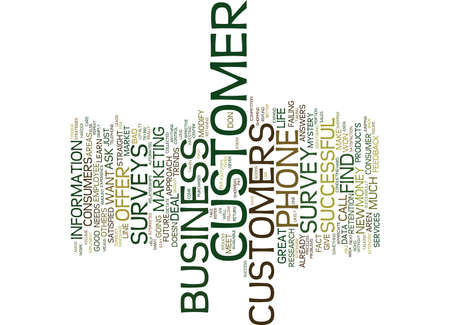 FIVE REASONS TO USE CUSTOMER PHONE SURVEYS Text Background Word Cloud Concept Illustration