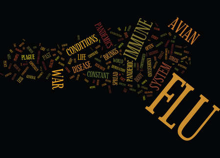 FLU THREAT LESSONS FROM PAST PANDEMICS Text Background Word Cloud Concept