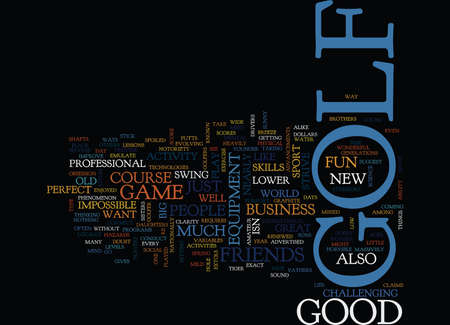 GOLF Text Background Word Cloud Concept