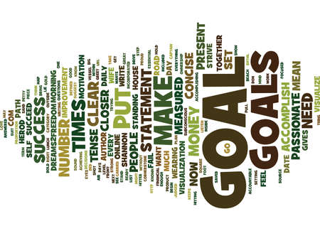 GOLD FROM GOALS Text Background Word Cloud Concept Illustration