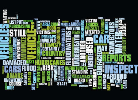 FLOOD DAMAGE CARS ARE STILL AROUND Text Background Word Cloud Concept
