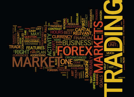 FOREX FIND OUT IF IT S THE RIGHT MARKET FOR YOU Text Background Word Cloud Concept