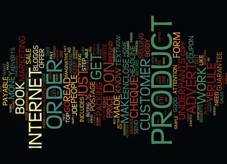 made to order: GO TO WORK IN YOUR UNDERPANTS Text Background Word Cloud Concept