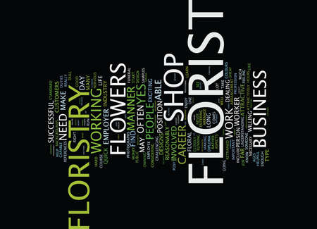 FLORISTRY AS A CAREER Text Background Word Cloud Concept Ilustração