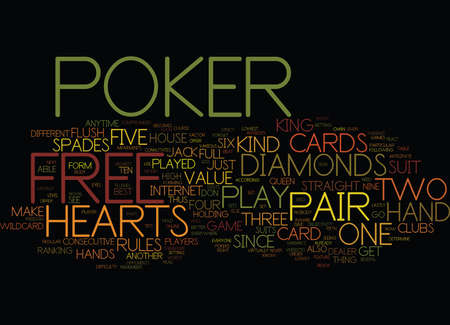FREEPOKER Text Background Word Cloud Concept