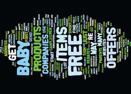 asked: FREE BABY ITEMS Text Background Word Cloud Concept