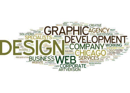 FROM GRAPHIC DESIGN TO WEB DEVELOPMENT WHAT YOUR COMPANY NEEDS Text Background Word Cloud Concept Illusztráció