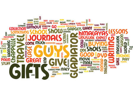 GIFTS FOR GUYS Text Background Word Cloud Concept