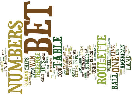 FREE AMERICAN ROULETTE GAME GLOSSARY Text Background Word Cloud Concept