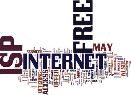 isp: FREE ISP Text Background Word Cloud Concept