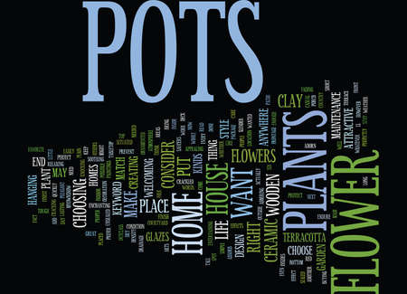 FLOWER POTS Text Background Word Cloud Concept