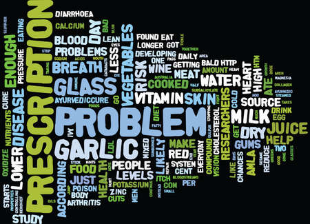 FIX YOUR PROBLEM WITH FOOD Text Background Word Cloud Concept Illustration