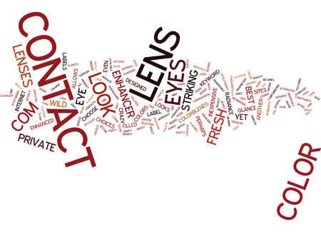 FRESH LOOK COLOR ENHANCER CONTACT LENS Text Background Word Cloud Concept Illustration