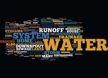 GOOD WATER DRAINAGE FOR YOUR HOME Text Background Word Cloud Concept Illustration