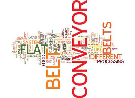 FLAT CONVEYOR BELTS Text Background Word Cloud Concept Ilustrace
