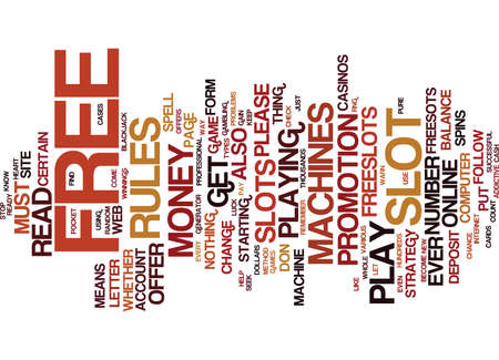 FREESLOTS Text Background Word Cloud Concept
