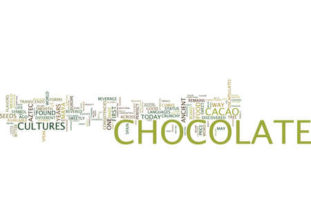 gamut: FOR THE LOVE OF CHOCOLATE Text Background Word Cloud Concept