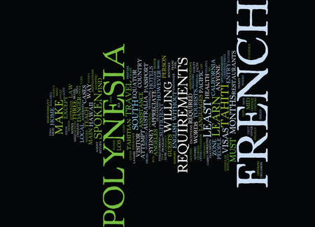 FRENCH POLYNESIA SOME HELPFUL FACTS FOR THE VISITOR Text Background Word Cloud Concept