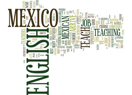 FROM HOLA TO HELLO TEACH ENGLISH IN MEXICO Text Background Word Cloud Concept