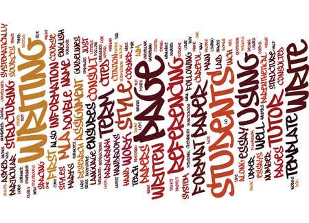 FORMAT MLA TERM PAPER Text Background Word Cloud Concept