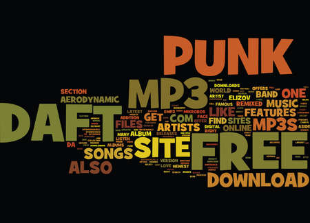FREE DAFT PUNK MP Text Background Word Cloud Concept Illustration