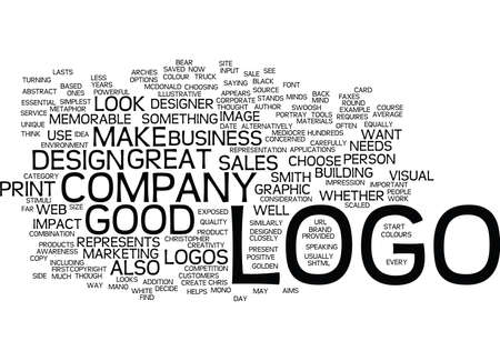 GOOD LOGOS MAKE GREAT SALES TOOLS Text Background Word Cloud Concept