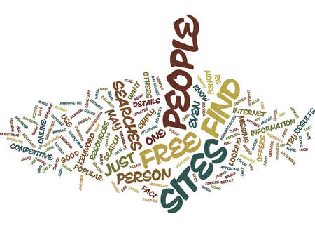 FREE PEOPLE FIND SITES Text Background Word Cloud Concept