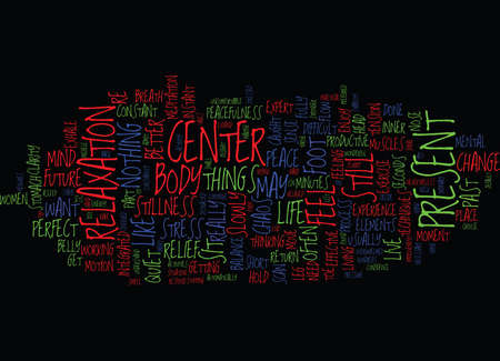 FROM CHAOS TO CENTER Text Background Word Cloud Concept