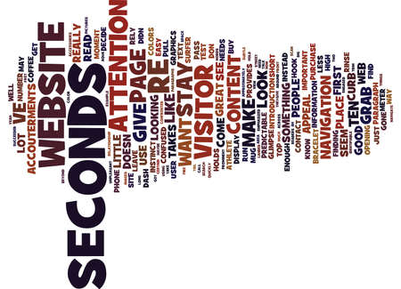 ve: GONE IN SECONDS Text Background Word Cloud Concept Illustration