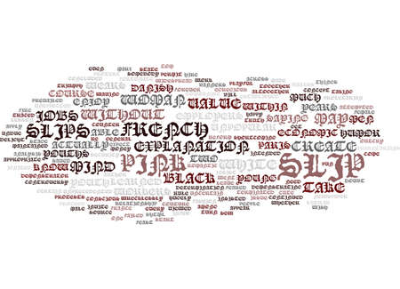 FRENCH YOUTHS PROTEST PINK SLIP RULE Text Background Word Cloud Concept Illustration