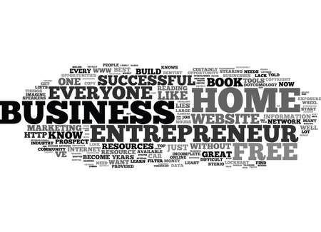 FREE HOME BUSINESS ENTREPRENEUR TOOLS AND RESOURCES Text Background Word Cloud Concept
