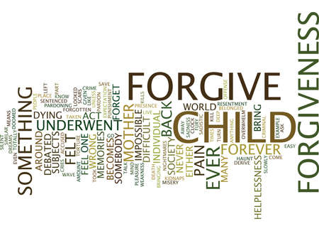 FORGIVENESS Text Background Word Cloud Concept