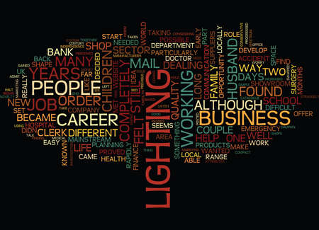 FROM BANK CLERK TO ENTREPRENUER Text Background Word Cloud Concept Ilustracja