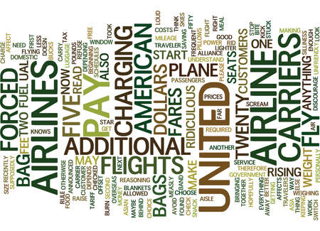 FLY THE UNFRIENDLY SKIES OF UNITED Text Background Word Cloud Concept