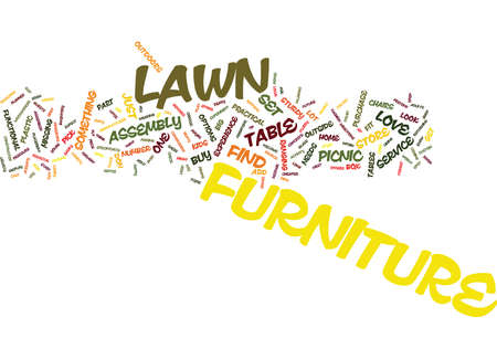 LAWN FURNITURE Text Background Word Cloud Concept