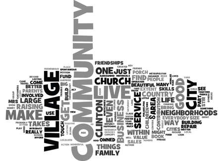 blown: IT TAKES A VILLAGE Text Background Word Cloud Concept