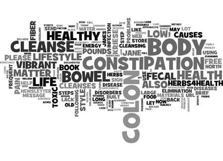 IS YOUR COLON TOXIC Text Background Word Cloud Concept Ilustração