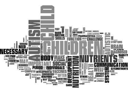 IS MY CHILD AUTISTIC HOW CAN I TELL Text Background Word Cloud Concept