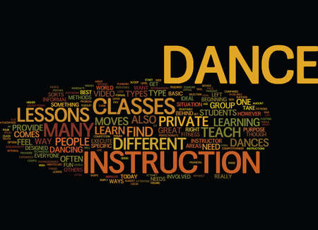 GREAT WAYS TO LEARN TO DANCE Text Background Word Cloud Concept